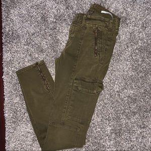 cargo zipper pants